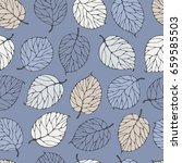 seamless pattern with forest... | Shutterstock .eps vector #659585503