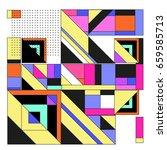 trendy geometric elements...   Shutterstock .eps vector #659585713