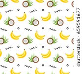 tropical fruits background.... | Shutterstock .eps vector #659591677