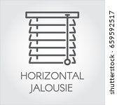 window horizontal jalousie icon ... | Shutterstock .eps vector #659592517