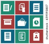 documents icons set. set of 9... | Shutterstock .eps vector #659593807