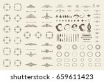 circle and square wicker... | Shutterstock . vector #659611423