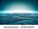abstract futuristic dark and...   Shutterstock . vector #659615053