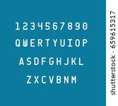 alphabets set vector... | Shutterstock .eps vector #659615317