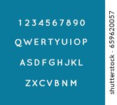 alphabets set vector... | Shutterstock .eps vector #659620057