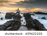 a landscape in action at pandak ... | Shutterstock . vector #659622103