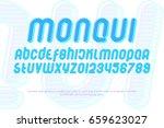 set of stylized alphabet... | Shutterstock .eps vector #659623027