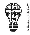 isolated light bulb maze from... | Shutterstock .eps vector #659636437