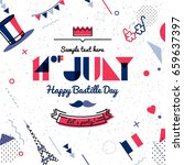 14 july bastille day abstract... | Shutterstock .eps vector #659637397