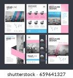 six flyer marketing templates... | Shutterstock .eps vector #659641327