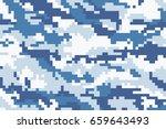 original marine pixel... | Shutterstock .eps vector #659643493