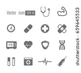 medical icons. | Shutterstock .eps vector #659645533