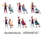 set of different hairdresser.... | Shutterstock . vector #659648767