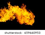 fire flame isolated on black... | Shutterstock . vector #659660953
