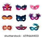 authentic handmade venetian... | Shutterstock .eps vector #659664403