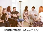 group therapy session | Shutterstock . vector #659674477