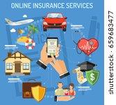 concepts online insurance...   Shutterstock .eps vector #659683477