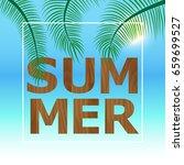vector summer party poster... | Shutterstock .eps vector #659699527