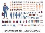 businessman character... | Shutterstock . vector #659703937