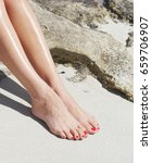 Pretty Woman Feet With Red...