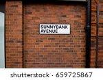 street sign in horsforth west... | Shutterstock . vector #659725867