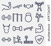 strong icons set. set of 16... | Shutterstock .eps vector #659726347