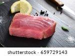 raw tuna steak | Shutterstock . vector #659729143