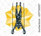 geometric crossfit concept....   Shutterstock .eps vector #659730307