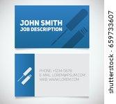 business card print template... | Shutterstock .eps vector #659733607