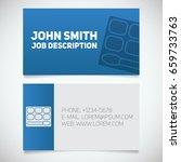 business card print template... | Shutterstock .eps vector #659733763