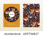 cover design with floral... | Shutterstock .eps vector #659736817