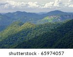 Mountain Khao Yai at view point. - stock photo