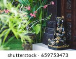 black and gold statuette of a