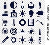 heat icons set. set of 25 heat...   Shutterstock .eps vector #659760097