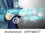 social network | Shutterstock . vector #659768677