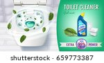 cool mint fragrance toilet... | Shutterstock .eps vector #659773387