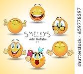 set of emoticon smileys.... | Shutterstock .eps vector #659778397