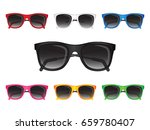 set of sunglasses of different... | Shutterstock .eps vector #659780407