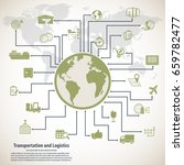 transportation and logistics...   Shutterstock .eps vector #659782477