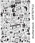 web doodle set | Shutterstock .eps vector #659787913