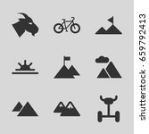 mountain icons set. set of 9... | Shutterstock .eps vector #659792413