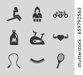 lifestyle icons set. set of 9
