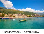 beautiful mediterranean... | Shutterstock . vector #659803867