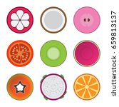 isolated mixed half sliced... | Shutterstock .eps vector #659813137
