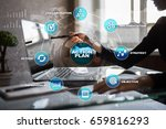 action plan on the virtual... | Shutterstock . vector #659816293