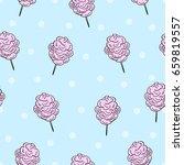 cotton candy blue seamless... | Shutterstock .eps vector #659819557