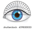 blue eye of woman with...   Shutterstock .eps vector #659830033