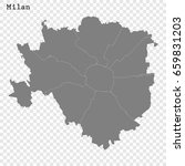high quality map of milan is a... | Shutterstock .eps vector #659831203
