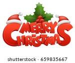 merry christmas vector text... | Shutterstock .eps vector #659835667