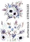 flower bouquet with elements | Shutterstock . vector #659836183